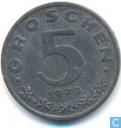 Austria 5 groschen 1979
