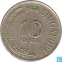 Singapore 10 cents 1971