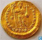 Roman Empire, AU Solidus, 402-450 AD, Theodosius II, Thessalonica, AD 424-425