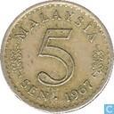 Maleisië 5 Sen 1967