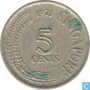 Singapore 5 cents 1971