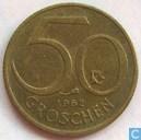 Autriche 50 groschen 1962