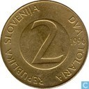 Slovénie 2 tolarja 1996