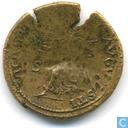 Dupondius Roman Empire from 66 AD Emperor Nero.
