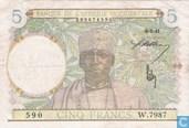 Afrique de l'Ouest français 5 Francs