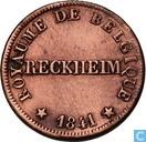 België 5 centimes 1841 Monnaie Fictive, Reckheim