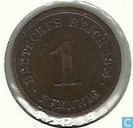 German Empire 1 pfennig 1874 (D)