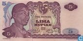 Indonesië 5 Rupiah 1968