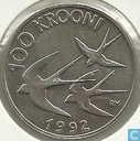 "Estonie 100 krooni 1992 (BE) ""Monetary Reform"""