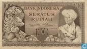 Indonésie 100 Rupiah 1952