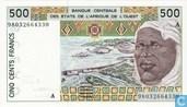 Stat Afr de l'Ouest. A 500 francs