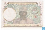 French West Africa 5 Francs