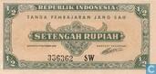 Indonésie ½ Rupiah 1945