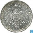 "Württemberg 3 mark 1911 (F) ""noces d'argent"""