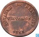 België 5 centimes 1833 Monnaie Fictive, Vilvoorde