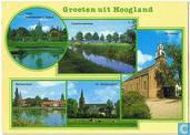Groeten uit Hoogland - Vijver Bieshaarlaan/Kabof, Coelhorsterweg, de Inham, Berkenvijver, St. Martinuskerk