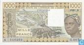 Stat Afr de l'Ouest. A 1000 francs