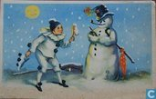 Pierrot met Sneeuwpop