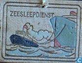 Zeesleepdienst afbeelding op hout