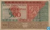 Indonésie 500 Rupiah 1952