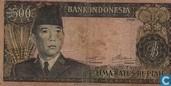 Indonésie 500 Rupiah 1960