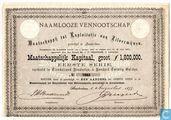 Oudste item - Maatschappij tot Exploitatie van Zilvermijnen, Aandeel f 120,=, 1877
