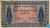 Indonésie 25 roupies 1952