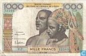Stat Afr de l'Ouest. 1000 Francs