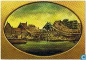 Czaar Peter huisje - Schilderij afbeelding Caar Peters, Werve Seanredam - Zaandam