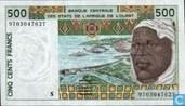 Stat Afr de l'Ouest. 500 francs S