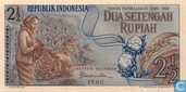 Indonesia 2½ Rupiah 1960