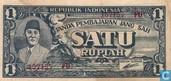 Indonesia 1 Rupiah 1945 (P17a)