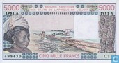 West Afr Stat. A 5000 Francs
