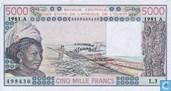 Stat Afr de l'Ouest. A 5000 francs