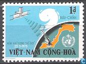 Weersatelliet & kaart Vietnam