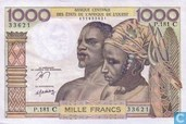 Stat Afr de l'Ouest. 1000 Francs C
