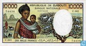 10.000 francs Djibouti