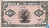 French West Africa 100 Francs
