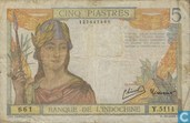 French Indochina 5 piastres