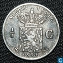 Dutch East Indies ¼ gulden 1854