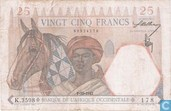 French West Africa 25 Francs