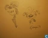 Franquin schets Ton en Marsupilami