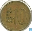 Zuid-Korea 10 won 1972