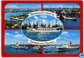 """Vijfluik Rotterdam """"Rondvaart door de Rotterdamse havens"""" met vliegdekschip Karel Doorman"""