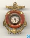 Anker met reddingsboei en kompas
