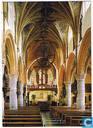 Sint-Lambertuskerk Neeroeteren/Maaseik - binnenaanzicht richting koor