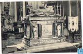 Mechelen - Relikwiekas van den H. Rumoldus in de kathedraal.  Kunstwerk vervaardigd naar het ontwerp van Jacobs van Antwerpen door den zilversmid J.-F. Van Deuren van Mechelen in 1823