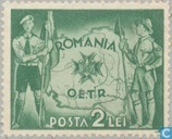 Scouts and country map of Romania