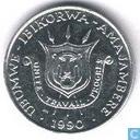 Burundi 1 franc 1990