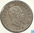 Italië 5 lire 1875 (M BN)